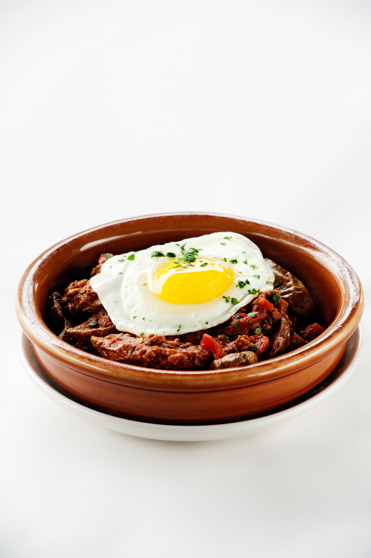 Food, Editorial, Advertising and Corporate Studio and Location Photography Jacksonville, Florida Taverna Restaurant Chef Sam Efron Eggs and Hash