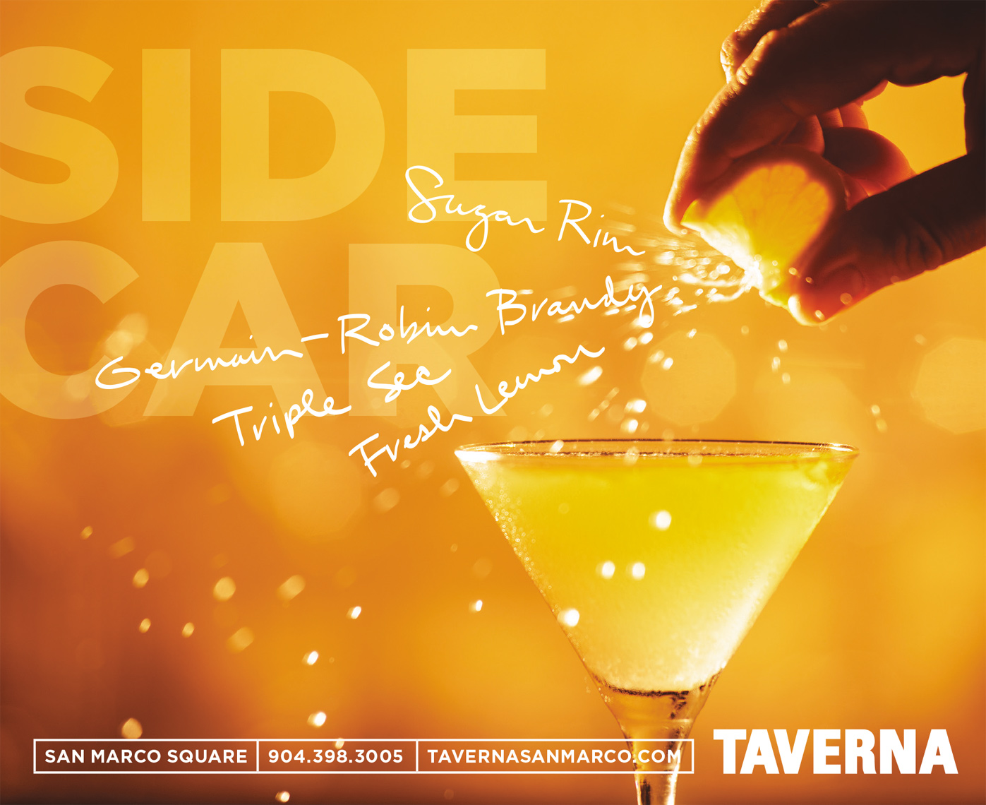 Food, Editorial, Advertising and Corporate Studio Location Photography Jacksonville, Florida Taverna Restaurant Cocktail Campaign